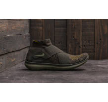 Nike Free Run Motion Flyknit 2017 Sequoia/ Medium Olive Sneaker (880845301)