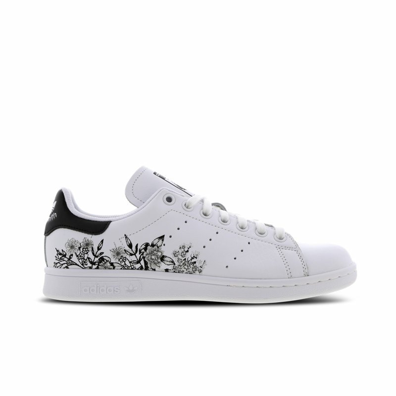 In Adidas Weiss Stan Bc0257 Embroidery Flower Smith Originals ZOPkTuXi